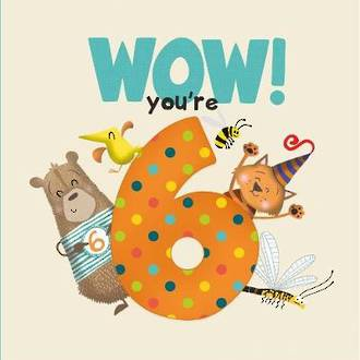 WOW! You're Six birthday book