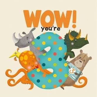 WOW! You're Three birthday book