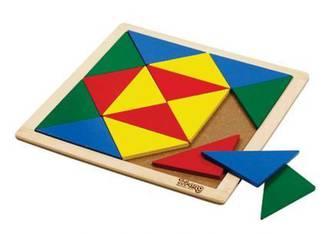 Wooden Mosaic - Isosceles Triangles