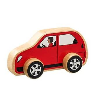 Wooden Red Car