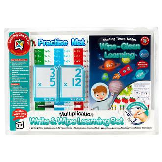 Write & Wipe Learning Set Multiplication