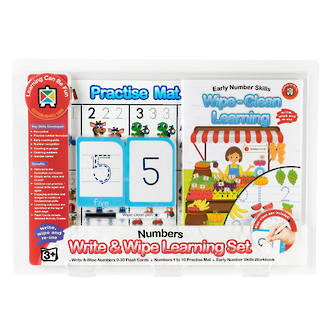 Write & Wipe Learning Set Early Numbers