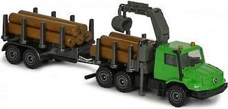 Majorette Trailer Mercedes Benz Zetros 2733 Log Truck