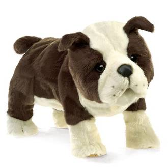 English Bulldog Puppet - Folkmanis