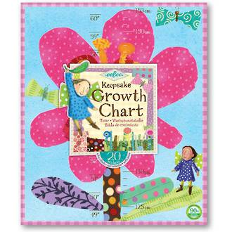 eeboo Keepsake Growth Chart Pink Flower