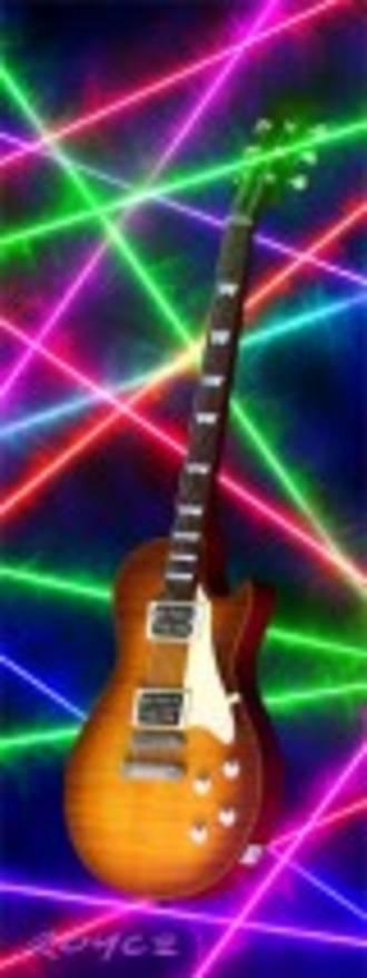 3D Bookmark - Guitar