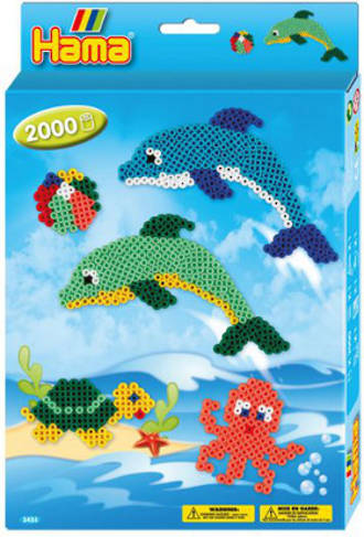 Hama Boxed Set Dolphins 2000 Beads H3435