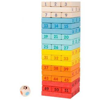 Classic World Deluxe Colourful Tower Game