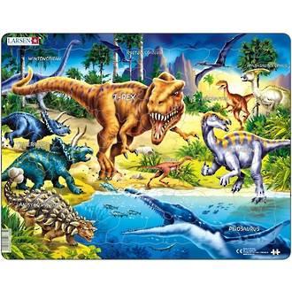 Larsen Tray Puzzle - Dinosaurs 57 Pieces