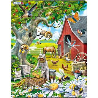 Larsen Tray Puzzle - Bee Keeping,