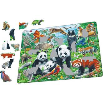 Larsen Tray Puzzle - Chinese wildlife 56 pieces