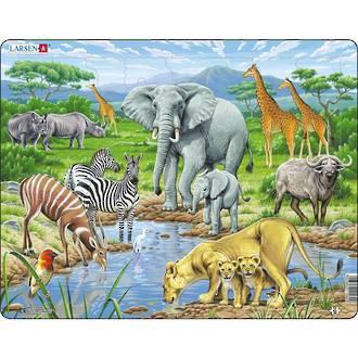 Larsen Tray Puzzle - Savannah 65 pieces
