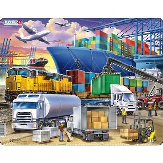 Larsen Tray Puzzle - Transport 37 pieces