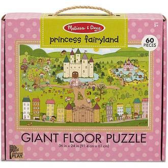 Melissa & Doug Giant Floor Puzzle - Princess Fairyland 60 Pieces