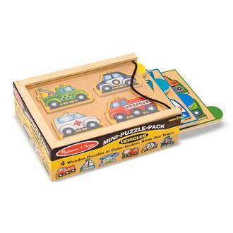 Melissa & Doug Mini Puzzle Pack Vehicles