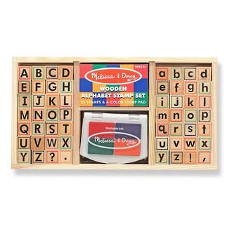 Melissa & Doug wooden stamp set Alphabet