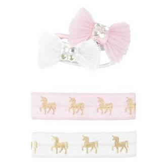Unicorn Hair ties and Bows