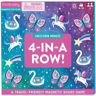 Mudpuppy Magnetic Board Game Unicorn Magic 4-in-a-row