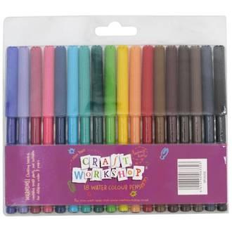 Craft Workshop 18 Watercolour Pens