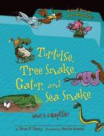 Tortoise, tree snake, gator, and sea snake by Brian P. Cleary