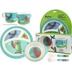 Antics Bamboo Meal Set NZ Birds (5pc)