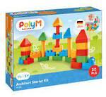 PolyM Architect Starter Kit Building Blocks 30 Piece