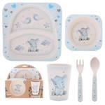 Baby Boy Elephant 5 pce Dining Set