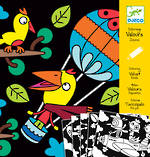 Djeco Colouring In Velvet Birds