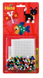 Hama Blister Bead Kit w/ Square Pegboard 450 Beads H - 4162