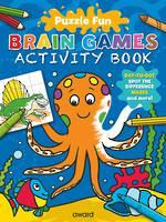 Puzzle Fun Brain Games Activity Book Octopus