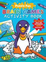 Puzzle Fun Brain Games Activity Book Penguin