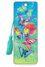 3D Bookmark - Butterfly Sky