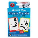 Write & Wipe Flashcards Subtraction W/Marker