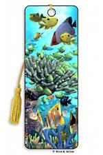 3D Bookmark - Coral Garden