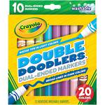 Crayola Double Doodlers Dual-Ended Markers (20 colors)