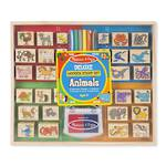 Melissa & Doug Animal Deluxe Wooden Stamps
