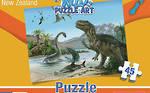 Dinosaurs of New Zealand - Wild Puzzle Art