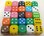 6 Sided Dot Dice