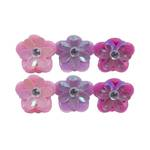 Fanciful Flower Mini Hairclips
