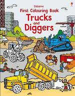 Usborne First Colouring Book Trucks & Diggers