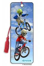 3D Bookmark - Grey vs Green BMX