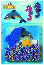 Hama Blister Kit Dolphin Peg Board, 1,100 Beads H4083