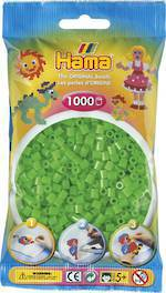 Hama Beads 1000  Fluorescent Green H207-42
