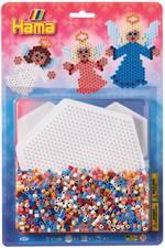 Hama Bead Kit  1 x Large Hexagon Shape Pegboard, 1100 Beads H4097