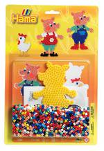 Hama Blister Kit Pigs, 1100 Beads H4014