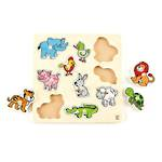 Hape Friendly Animals Knob Puzzle