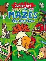 Junior Art Colour-In Mazes On the Farm