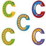 Lanka Kade Wooden Animal Letter C