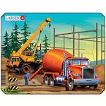 Larsen Puzzle Construction Vehicles Mini Cement Mixer (7pc)