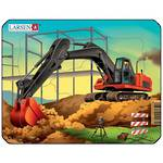 Larsen Puzzle Construction Vehicles Mini Digger (7pc)